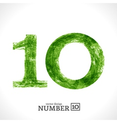 Grunge Number 10 vector