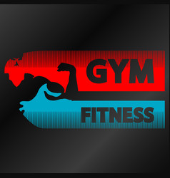 gym and fitness banner vector image
