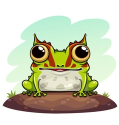 Horned frog cartoon vector