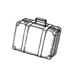 Ink sketch suitcase vector