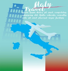 Italy travel on concept art background vector image