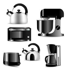 kitchen appliances vector image