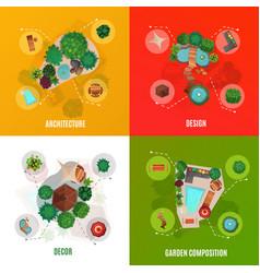 landscape design concept top view vector image