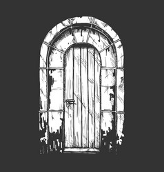 middle age vintage door vector image