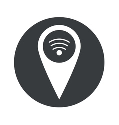 Monochrome round Wi-Fi pointer icon vector image
