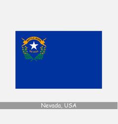 Nevada usa state flag nv usa vector