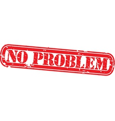 No problem stamp vector image