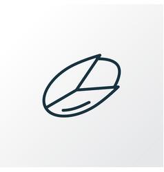 Pistachio icon line symbol premium quality vector