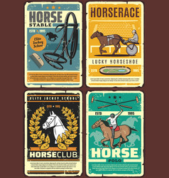 Race horses jockeys hippodrome equestrian sport vector