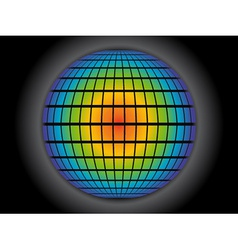 rainbow globe vector image