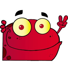 Red Frog vector image