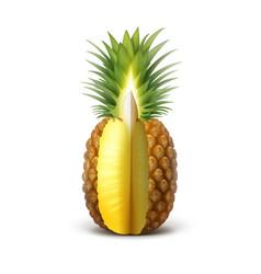 ripe sliced pineapple vector image