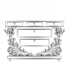 Royal Baroque Classic Commode table vector