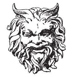 satyr mask was designed during the italian vector image