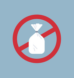 Say no to plastic bag poster pollution recycling vector
