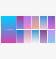 Set of blue gradient color combination vector