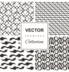 set of four gray and yellow chevron vector image