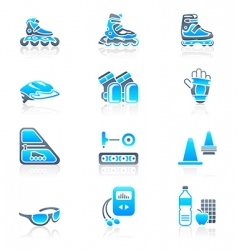 skating icons vector image