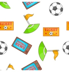 Soccer pattern cartoon style vector