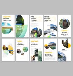 Social networks stories design vertical banner vector