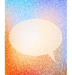 Speech bubble vector