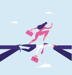 Strongest will survive concept businesswoman vector