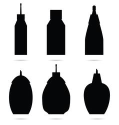 sugar bowl set in black vector image