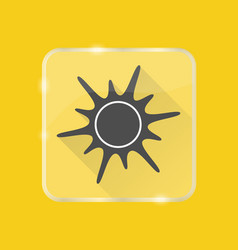 sun silhouette icon in flat style on transparent vector image