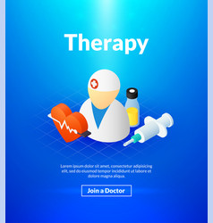 therapy poster of isometric color design vector image