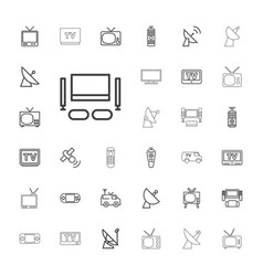 tv icons vector image