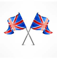 Two British flag vector image