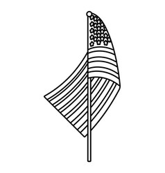 united state flag black and white vector image
