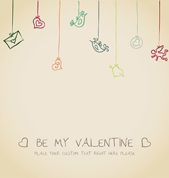 Valentine funny card vector image