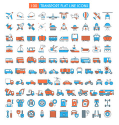 Vehicles big icons set vector