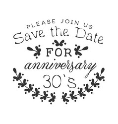 wedding anniversary party black and white vector image