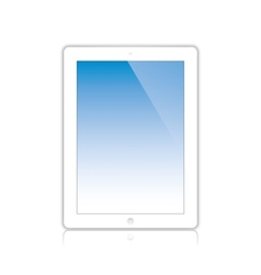 white computer tablet vector image