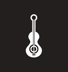 White icon on black background musical vector