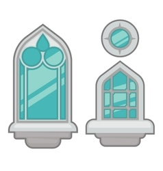 Windows collection of various types vector