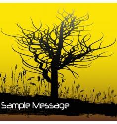 Winter tree background vector