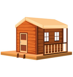 Wooden cottage in 3d design vector