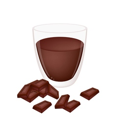 A Cup of Hot Cocoa with Chocolate vector image vector image