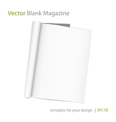 blank page of magazine on white background vector image vector image