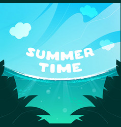 blue sky with ocean breeze summer time vector image