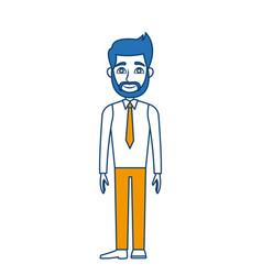 cartoon man standing character male vector image