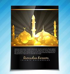 eid background vector image vector image