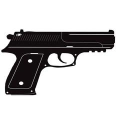 icon of the black pistol vector image