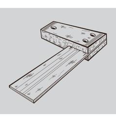 It is monochrome of building corner vector image