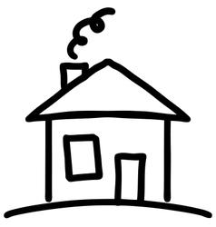 Little cartoon house vector image vector image
