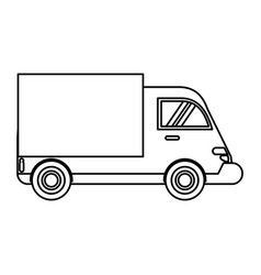 truck delivery transport image vector image vector image