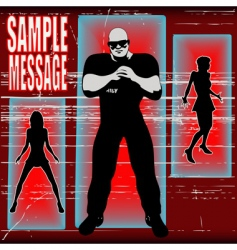 bouncer background vector image vector image